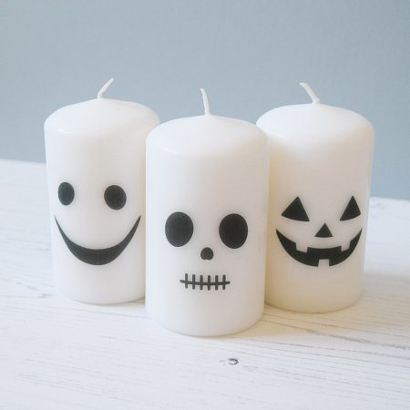 Halloween Spooky Face Candle