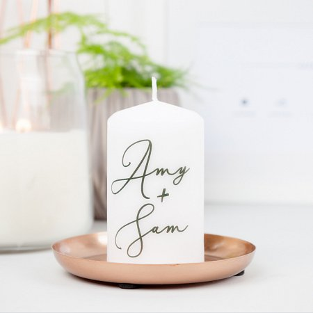 Couple Love Names Candle